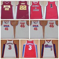 Wholesale Basketball Parks - USA Dream Team 45 Donald Trump Jersey Richmond 22 Timo Cruz Sunset Park 1 Fredro Starr Shorty Movie Basketball Jerseys Hollywood 2002 Cinema