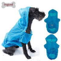 Wholesale Male Shirt Golden - Big Pet Dog Ultra-thin Raincoat Waterproof Sunscreen Legs Large Golden Retriever Rain Coat Hoodie Clothes 3-color XS-XXL