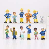 Wholesale Doll Cute - 12pcs set Fireman Sam Action Figure Toys Cute Cartoon PVC Model Dolls Collection Toy For Kids Birthday Gift 2.5-6cm