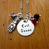 Wholesale snow white plates - 12pcs lot Once Upon A time Inspired Necklace Evil Queen Villain Wicked Queen. Snow White Silver tone crystal
