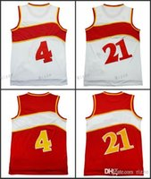Wholesale Rugby Shirts Cheap - with player name hot sale #4 Spud Webb jersey #21 Dominique Wilkins Cheap throwback basketball jerseys embroidery logos shirt men