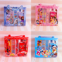 Wholesale Kids Spider Man Gift Bag - Frozen Stationery Sets Pencil Case Children Student Study Supplies Cartoon Spider-Man Cars Stationery Cases Bags Kids Learning Toys Gifts 43