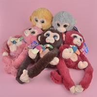 Wholesale Stuffed Dolls Big Monkey - Colors Big Eyes Monkey Brand New Soft Stuffed Plush Toy, Baby Kids Brithdat Party Doll Gift Free Shipping