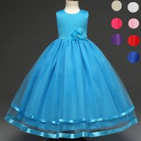Wholesale party dresses for teenagers online - Kids Party Wear Costume For Children Clothes Princess Wedding Flower Girls Dress Ceremonies Teenagers Prom Gown