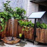 batterie d'énergie solaire 12v achat en gros de-12V 5W Pompe à eau Solaire Sans Brosse Batterie Intégrée Télécommande Télécommande Submersible Pompe Fontaine pour Étang de Jardin