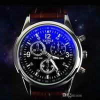 Wholesale Men S Business Watch - New listing Leather watch Luxury Brand Quartz Clock Fashion Leather Watch Leather Watch proofwater men\'s wistwatch fu