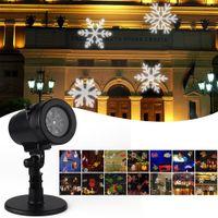 Wholesale Gradual Lens - LED Christmas Projector Light 14 Replaceable Lens 14 Colorful Patterns Night Light Fairy Garden Lawn Lamp Landscape Snowflake Laser Lighting