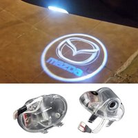 1pcs Led Auto Logo / Emblem Lampe Laser LED Car Door Step Ghost Shadow Welcome Projecteur Light Lamp pour Mazda 6 A8 RX-8