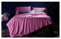 Wholesale Gold King Size Duvet Cover - Pink Luxury Bedding set 100% Egyptian Cotton sheets quilt duvet cover sets bedspread bed in a bag linen King Queen size 4PCS
