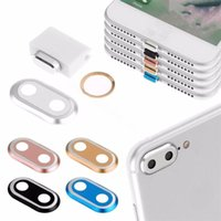 Discount i phone protector case - 2017 Camera Lens Protector Ring Case & Touch ID Support Home Button sticker& Cable protector & Dustproof Plug Set for I phone 7 7plus