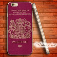 Wholesale Uk Iphone Case - Coque UK Passport Soft Clear TPU Case for iPhone 6 6S 7 Plus 5S SE 5 5C 4S 4 Case Silicone Cover.