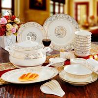 Wholesale White Ceramic Dinnerware - fine bone china dinnerware set Eternal Rose, wholesale ceramic dinnerware set , cheap porcelain Sun island dinnerware set