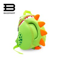 Wholesale Neoprene Bags Children - Wholesale- BAGSMART Baby Kid's School Bags Waterproof Dinosaur Neoprene Children School Bags Boys Girls 3D Cartoon Bags for 2-5 Years Old