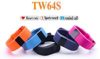 Wholesale Dh Sports - Heart Rate Pulse SmartBand TW64S Pulso Inteligente Banda Pulse Measure Smart Band Sport Smart Wristband Health Fitness Tracker DH Free ship