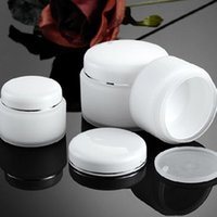 Wholesale Double Layer Cream Bottle - 15g 30g 50g Double Layer PP Cream Jar Bottle With White Lid Empty White Color Plastic PP Cosmetic Jar F2017871