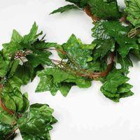 grandes plantes artificielles achat en gros de-5PCS Big Sleaf Leaf Artificial Vine Garland Plantes Ivy Vine Fake Plants Fleurs Wedding Home Decor 7.5 pieds Artificial Ivy
