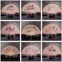 Wholesale More Process - Hot sale 9 inch cloak folding fan process fragrant wood fan ZS015 mix order as your needs
