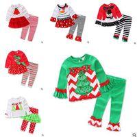 Wholesale Children Sleepwear Nightwear Pyjamas - Christmas Outfits Baby Girls Christmas Pajamas Children Sleepwear Girls Nightwear Xmas Santa Claus Toddler Baby Pyjamas Kids Clothing