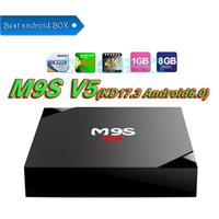 Compra Streaming Flash Player-M9S V3 / V5 TV Box Android 6.0 KD17.3 RK3229 Quad-core 1G DDR 8G Flash HDMI 4K completamente caricato Wifi Media Player 20 PCS