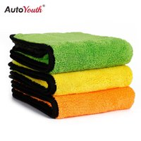 Wholesale Thick Microfiber Cleaning Cloths - Wholesale- AUTOYOUTH 850gsm Luxury Super Thick Plush Microfiber Car Cleaning Cloths Car Care Microfibre Wax Polishing Detailing Towels