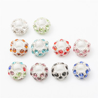 Wholesale 20 Crystal European beads Fit Pandora Charms Original Bracelet Spacer Charm Beads Jewelry Making DIY Berloque DZ0018