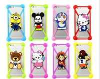 Wholesale Cover Minion Iphone - 3D Cartoon Universal Silicone Case Bumper Case Minions Mickey For Iphone 7 7plus 6 6s Plus Samsung S6 Soft Cover