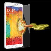 Wholesale S3 Screen Protector Packaging - Tempered Glass Clear Front Screen Protectors For Samsung Galaxy S7 S6 S5 S4 S3 Note 2 3 4 Protective Film Package With Opp Package