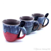 Wholesale Coffee Cup Top - Personality Mugs High Capacity Anti Export Ceramics Cup Simple For Home Office Leisure Bar Coffee Cups Top Quality 6md R