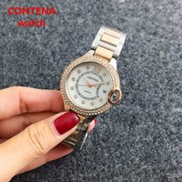Women's oyster watch gold - Luxury New Watches Mens Fashion Watch Automatic Quartz Chronograph New Chronograph Watch Oyster Perpetual Woman Luxury Watch Brown Leather