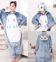 Wholesale Anime Costume Owl - Lovely Owl Cheap Easily Kigurumi Pajamas Anime Pyjamas Cosplay Costume Adult Unisex Onesie Dress Sleepwear Halloween