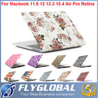 "Wholesale Apple Macbook Pro Covers - Brand New Gold Marble Rubberized Hard Protective Shell Case Covers For Apple Macbook Air 11""12"" 13"" 15"" Pro Retina factory price"