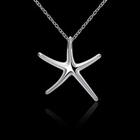Wholesale Titanium Necklace Brown - Free The Chain Cute Blue Green White Brown Pink Fire Opal Star Pendant Women Necklace Pendant Starfish Pendant(Don't take the chain)
