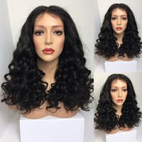 Wholesale Brazillian Hair Lace Wigs - 8A Brazillian Lace Front Wigs Body Wave Full Lace Human Hair Wig With Baby Hair Unprocessed Virgin Hair Glueless Full Lace Wigs