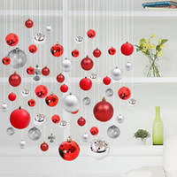 Wholesale Blue Plastic Ornaments Balls - 6cm8cm Christmas ball ornaments color ball shopping mall hotel shop shop hanging room room hanging ball Christmas decorations