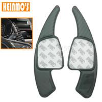 Wholesale Carbon Fiber Shifter - Car Carbon fiber Steering Wheel Shift Paddle Shifter For New Audi A4 A5 Q7 TT TTS
