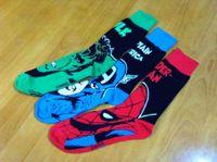 Wholesale Super Heroes Flash - 2017 New Arrival Super hero Spiderman Flash Green Lantern Captain America Cartoon Socks Cotton Leisure Socks for adult Allow Mixed Orders
