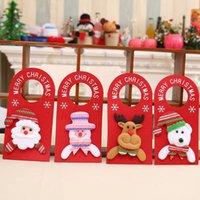 Wholesale Cartoons Hangings Doors - 2017 New Christmas door decorations cartoon door hanging snowman elk santa bear hotel door hanging decor