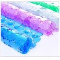 Pvc oval shape mat - Top Quality Transparent PVC Non slip Bath Mat Slip resistant Bathroom Shower Mats CM g Shape Oval