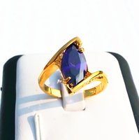 Wholesale Gold Gp Gem Ring - womens ring 14KT white gold GP rings alexandrite gemstone large gem party rings new gorgeous jewelry