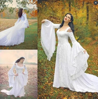 Wholesale Handmade Long Skirts - Trumpet Long Sleeve Wedding Dresses Back Lace Up Sexy Off the Shoulder Lace Wedding Dress Court Train Handmade Bridal Gowns High Quality