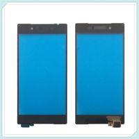 orijinal xperia dokunmatik ekran toptan satış-Sony Xperia Için yeni Orijinal Dokunmatik Ön Cam Panel Z5 E6683 E6653 E6603 Dokunmatik Ekran Dokunmatik Panel Digitizer Ücretsiz Kargo