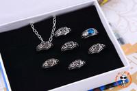 Wholesale Katekyo Hitman Reborn Ring - reborn Katekyo Hitman Reborn Vongola 7 Ring Necklace Set Free Shipping free cosplay set