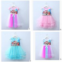 Wholesale Babies Wedding Party Dresses - Baby Girls Dresses Kids Clothing Moana Princess Summer Cosplay Kids Dress for Girl Ball Gown Wedding Party Costume Cartoon Dress