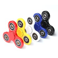 PVC orange toy box - Good Quality Fidget Spinner Hand Spinner Acrylic Plastic Triangular Fingertips Toy Hand Spinners Gyro Stress Reliever Toys With Box