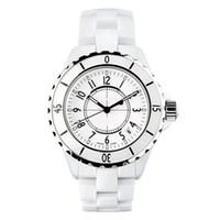 saat severler için hediye toptan satış-Üst marka Izle Hediyeler Kadın Severler Izle Erkek Moda Kadın Izle Lüks Rahat Su Geçirmez Kuvars Seramik Saatler Bayanlar Kol lüks