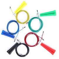 Wholesale Wholesale Skipping Ropes - Steel Wire Skipping Skip Adjustable Jump Rope Crossfit Fitnesss Equimpment Exercise Workout 3 Meters 9 Colors 2502089