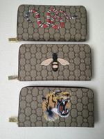 Wholesale Pvc Credit Card Holder - Free Shipping Hot sell New style Casual fashion womens classic fashion famous brand wallet printing Animal pattern purse wallet