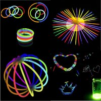 Neon LED Light Sticks Multi Color Glow Stick Flash Bracelet Colliers Enfants Adultes Party Nouveauté Jouets Cadeaux Factory Free DHL 287
