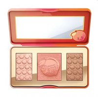 blush highlighter venda por atacado-Frete Grátis ePacket! Maquiagem Sweet Peach Glow infundido Bronzers Highlighters blush paleta