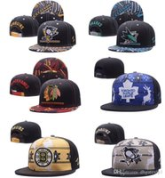 Wholesale Penguin Hat Adult - Free Shipping Album Offered Top Quality Snapback Hats Bruins Cap Penguins Hat Blackhawks snapbacks Sharks Caps hockey Snap Back Cap